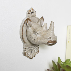 Rustic Metal Rhino Coat Hook