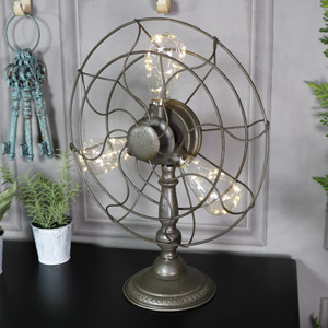 Retro Industrial Fan Style Table Lamp