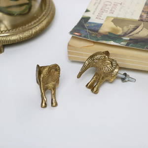 Gold Elephant Drawer Handle