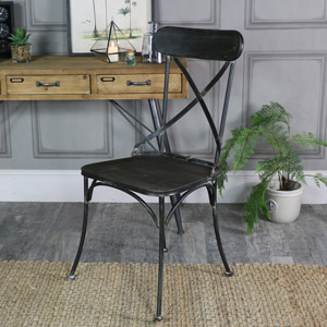 Industrial Style Metal Chair