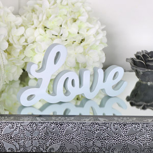 Freestanding Grey 'Love' Standing Letters