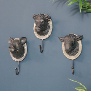 Animal Wall Mounted Coat Hooks