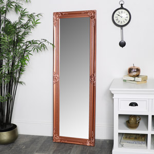 Tall Copper Wall Mirror 47cm x 142cm
