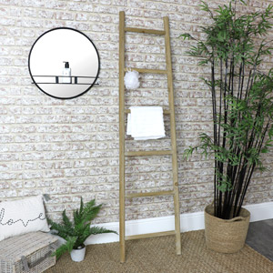 Wooden Ladder Towel Rail