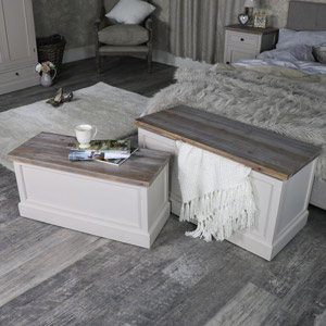 Pair of Blanket Storage Boxes - Cotswold Range