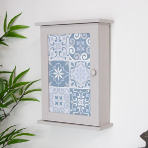Grey Wall Mounted Key Cabinet