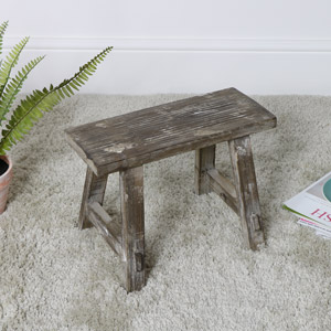 Small Vintage Wooden Milking Stool