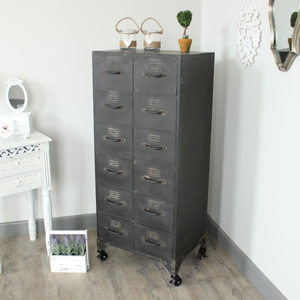 Metal 12 Drawer Storage Cabinet chest of Drawers