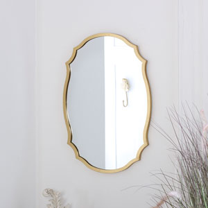 Decorative Gold Wall Mirror 43cm x 61cm