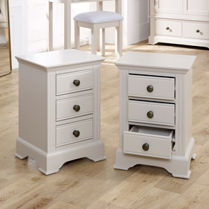 Pair Taupe-Grey Bedside Table - Davenport Taupe-Grey Range