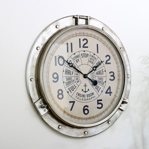 Large Industrial Wall Clock