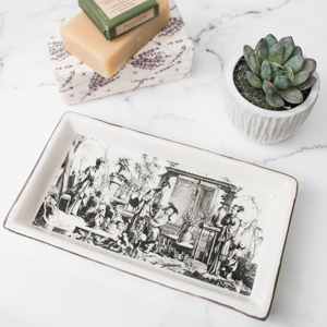 Ceramic Monochrome People Tray