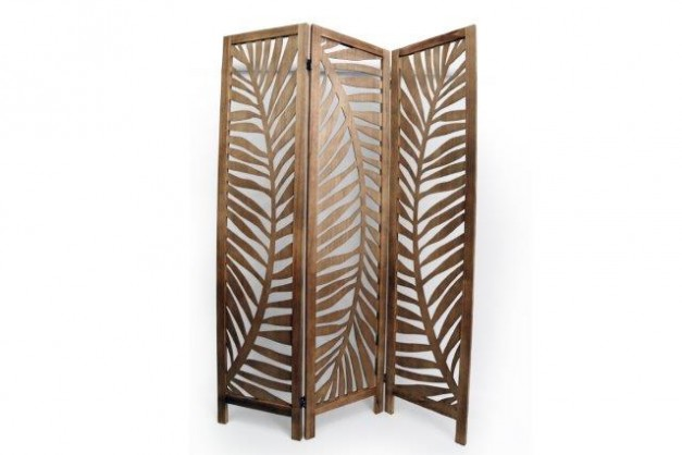 Rustic Wooden Leaf Room Screen