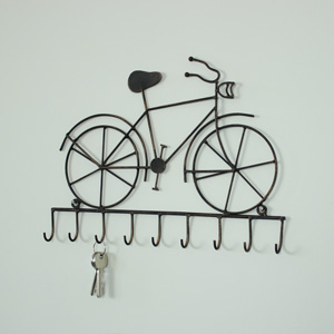 Black Metal Bicycle Vintage Wall Hooks