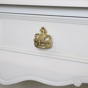 Gold Crown Drawer Knob