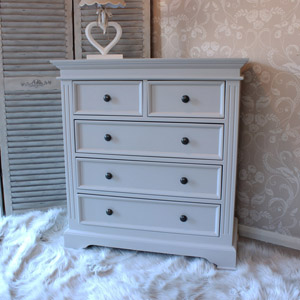 5 Drawer Chest of Drawers - Daventry Taupe-Grey Range
