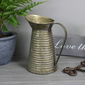 Grey Metal Vintage Decorative Pitcher/Jug