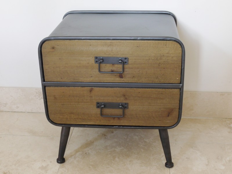 Retro Range - 2 Drawer Bedside Chest