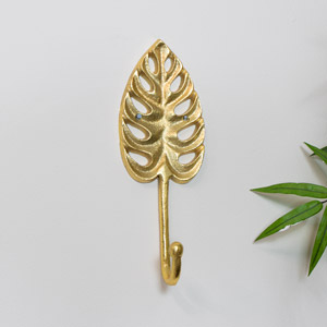 Gold Monstera Lilly Leaf Wall Hook