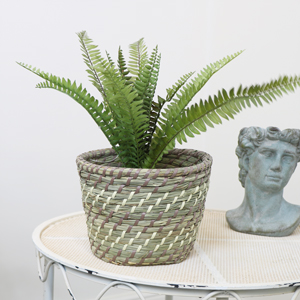 Medium Woven Basket Planter