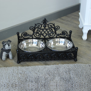 Large Cast Iron Dog Bowls