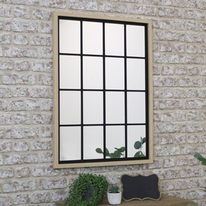 Rustic Rectangle Window Mirror