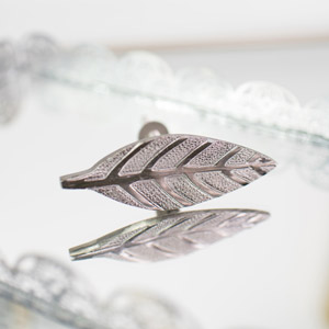 Silver Leaf Drawer Knob